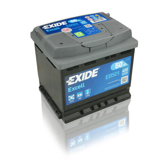 Picture of Акумулатор Exide Excell 50Ah 450A Л+