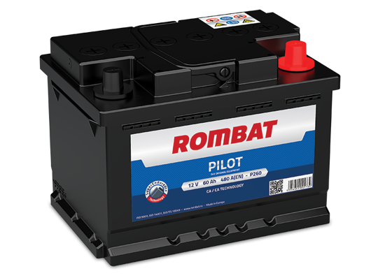 Picture of Акумулатор Rombat Pilot 60Ah 480A Л+