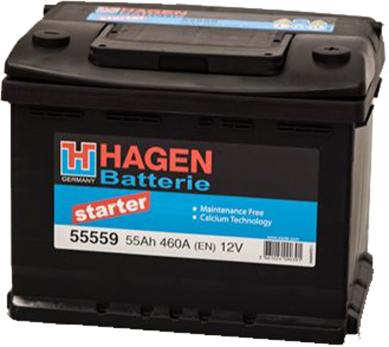 Picture of Акумулатор Hagen 55Ah 460A Л+