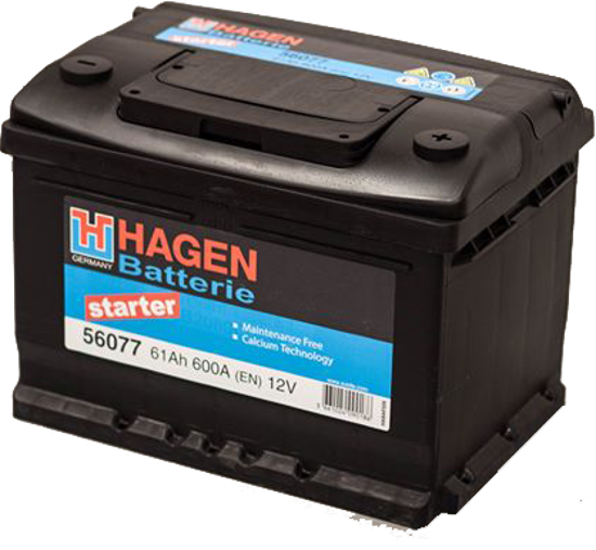 Picture of Акумулатор Hagen 61Ah 600A
