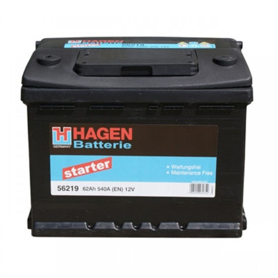 Picture of Акумулатор Hagen 62Ah 540A