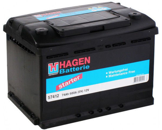 Picture of Акумулатор Hagen 74Ah 680A
