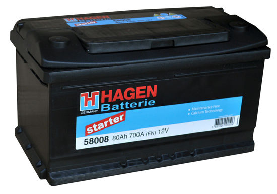Picture of Акумулатор Hagen 80Ah 700A