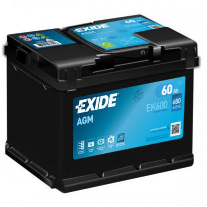 Picture of Акумулатор Exide AGM Start-Stop 60Ah 600A