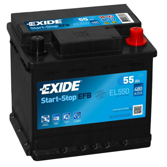 Picture of Акумулатор Exide Start-Stop EFB 55Ah 480A