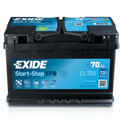 Picture of Акумулатор Exide Start-Stop EFB 70Ah 720A