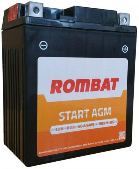 Picture of Акумулатор Rombat Moto AGM 6Ah 90A Л+
