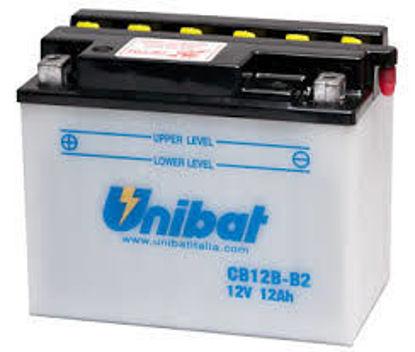 Picture of Акумулатор Unibat Moto 12Ah (со одржување)