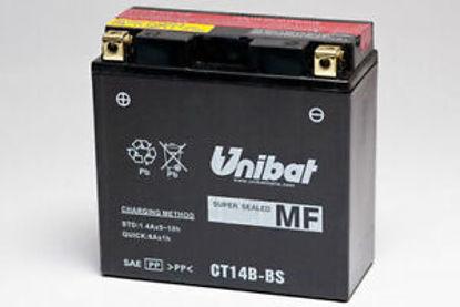Picture of Акумулатор Unibat Moto 12Ah (без одржување) (тесен)