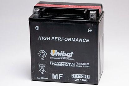 Picture of Акумулатор Unibat Moto 18Ah (без одржување) (краток) Л+