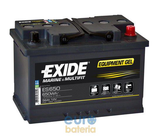 Picture of Акумулатор Exide GEL 56Ah 650Wh