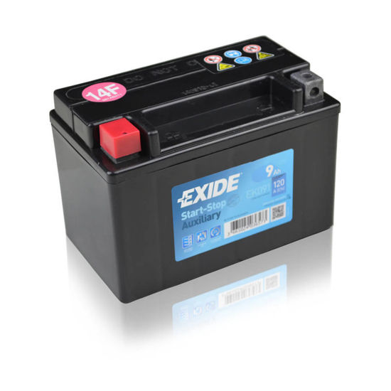 Picture of Акумулатор Exide Помошен/Мото AGM 9Ah 120A Л+
