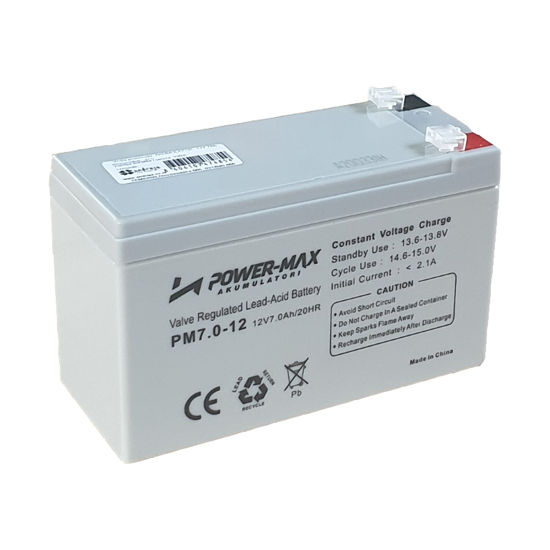 Picture of Батерија Power-Max  AGM 12V 7Ah
