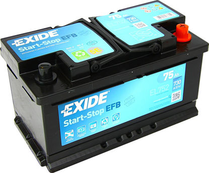 Picture of Акумулатор Exide Start-Stop EFB 75Ah 730A
