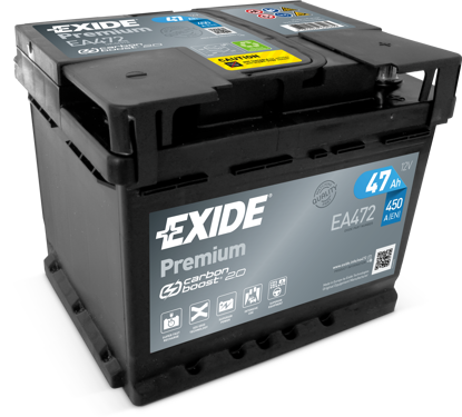 Picture of Акумулатор Exide Premium Carbon 2.0 47Ah 450A