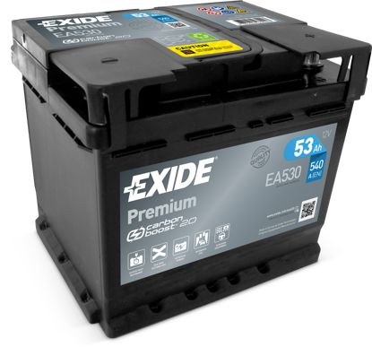 Picture of Акумулатор Exide Premium Carbon 2.0 53Ah 540A