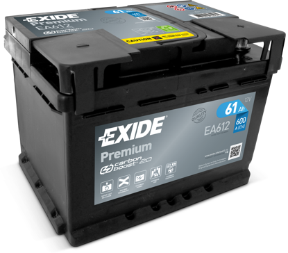 Picture of Акумулатор Exide Premium Carbon 61Ah 600A