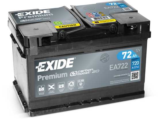 Picture of Акумулатор Exide Premium Carbon 2.0 72Ah 720A