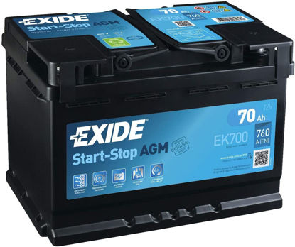 Picture of Акумулатор Exide AGM Start-Stop 70Ah 760A