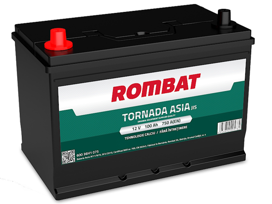 Picture of Акумулатор Rombat Tornada Asia 100Ah 750A